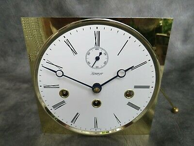 A Superb Kieninger J1222 Three Chime Wall Clock Movement With Dial And Cage
