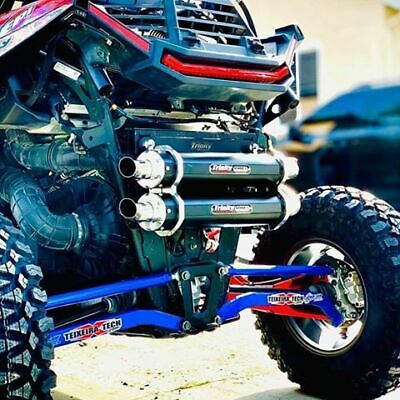 TRINITY RACING STAGE 5 Dual Muffler Full Exhaust System Polaris RZR