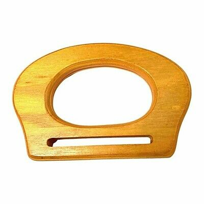 Bag Handles ,Pair of  Wood  wooden D Shaped for making bags Craft , Sewing BH6