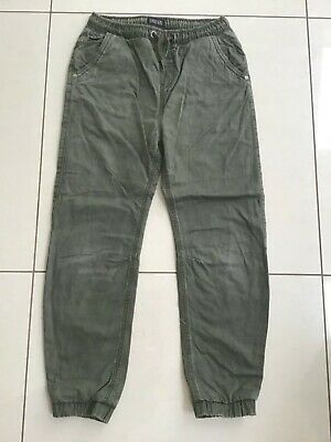 Boys Cargo Green Trousers, lined. Age 12 Years from Next