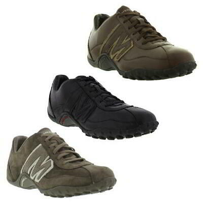 9e33b7a567cfe MENS MERRELL SPRINT Blast Black Grey Leather Lace-Up Trainers Shoes ...