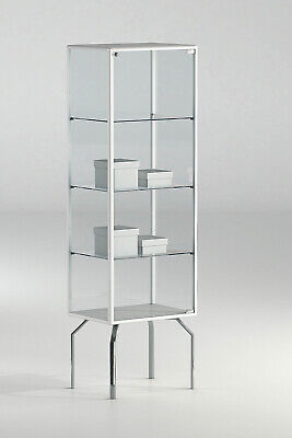 Glass Lockable Retail/Jewellery/Museum Display Counter Case Unit UK 51 x 170h cm