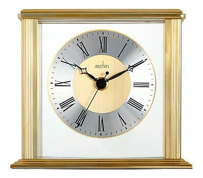 Acctim 36248 Hamilton Mantel Clock Brass Effect Case Glass Lens Metal Hands