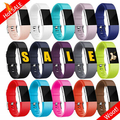 Replacement Silicone Band Wristband Watch Strap Bracelet  for Fitbit Charge 2