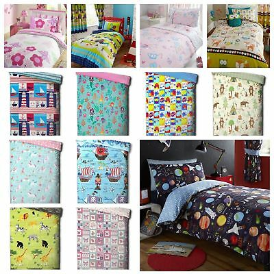 Kids Character Junior / Toddler / Cot Bed Duvet Quilt Cover and Pillowcase Sets