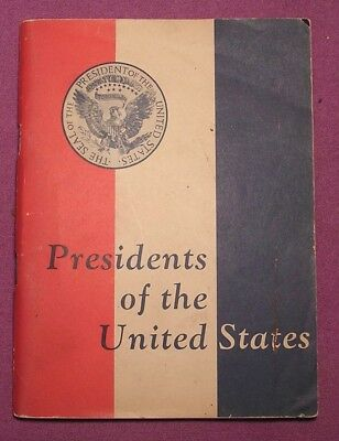 Antique Phamphlet, Presidents of the US, 1954