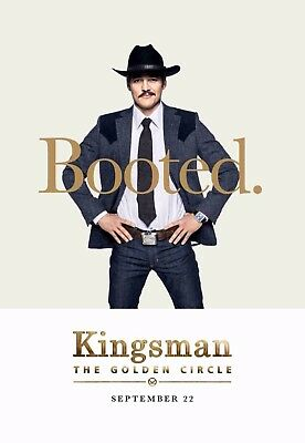 Kingsman The Golden Circle 2017 Film Poster A0-A1-A2-A3-A4-A5-A6-MAXI 492