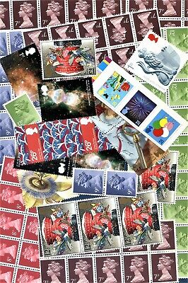 £10 Face Value Lower Value Cheap DISCOUNTED mint stamps. Unused With Gum.