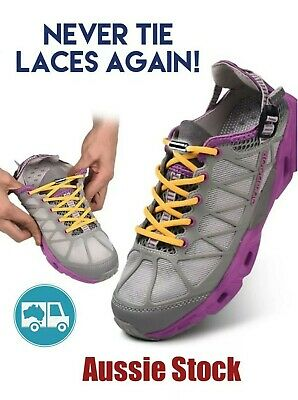 No Tie Locked Elastic Shoelace Shoe Lace Lazy Laces for Kids Adults - Sneakers