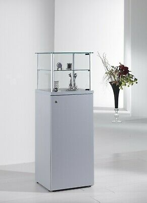 Glass Lockable Retail/Jewellery/Museum Display Counter Case Unit UK 45 x 135h cm