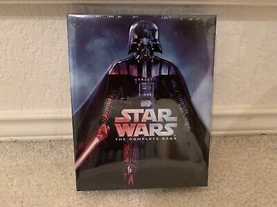 Star Wars: The Complete Saga (Blu-ray Disc, 2011, 9-Disc Set, Boxed Set) - NEW