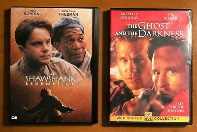 The Shawshank Redemption & The Ghost and the Darkness DVDs
