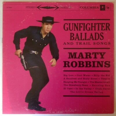 MARTY-ROBBINS-GUNFIGHTER-BALLADS-AND-TRAIL-SONGS Columbia Vinyl Record LP