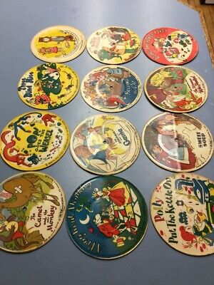 "Treasure Tales For Children - Musical Antique 7"" VG Vinyl 45 Picture Disc"