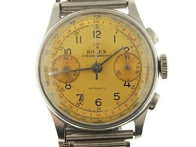 """Rolex stainless steel chronograph 2811, late 30""""s, rare"""