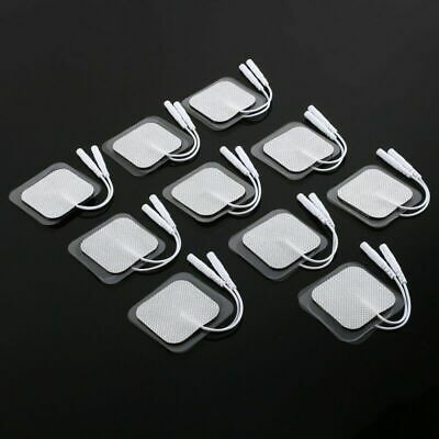 20x Electrode Pads Reusable Health Care Massager Self-adhesive For Tens Machines