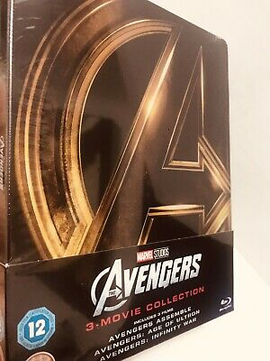 Avengers Trilogy Steelbook 3-Movies-Blu-ray BRAND NEW(Actual pics posted)