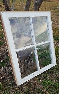 Architectural Salvage ~ ANTIQUE WOOD WINDOW SASH, PINTEREST ETSY 4 PANE 24X20