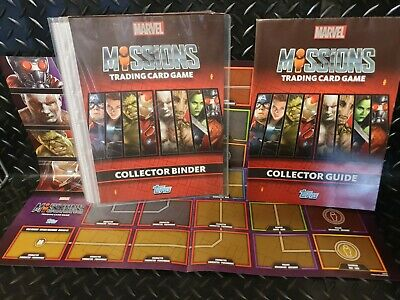 Marvel Mission Trading Card Game Collector Binder with Posters
