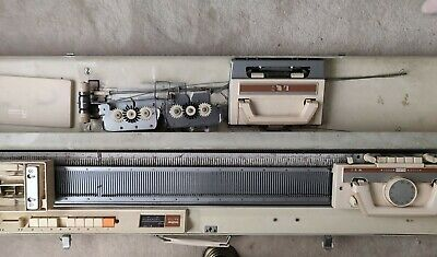 Brother Kh-710 Knitting Machine In Original Case With Accessories.