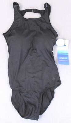 ad2f2b773f1 Aquabelle Women's Solid High Neck One-Piece Swimsuit SD8 Black Size 10 NWT