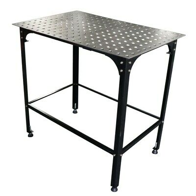 "36"" Adjustable Welding Table with 2 x 2 Hole Grid 5/8"" Holes for Clamps 2D Frame"