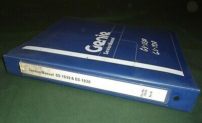 Genie Gs-1530 Gs-1930 Aerial Scissor Lift Service Repair Workshop Manual