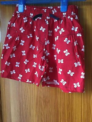 Girls New Red Shorts New Tags Age 5-6 Years Red Butterflies Lily & Sid