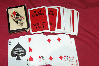 Old Four Queens Las Vegas Hotel and Casino Used Deck of Poker Playing Cards 4