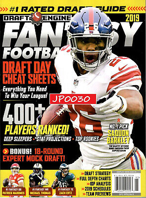 Draft Engine Fantasy Football 2019, Draft Day Cheat Sheets, New/Sealed