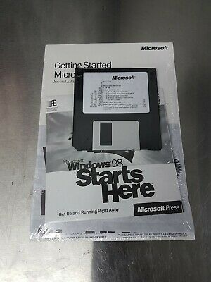 Microsoft Windows 98 Se Sealed New Package With Licence & Cd