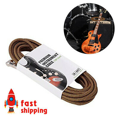 Heavy Duty Professional Electric Guitar Cable 20FT/6m Music Instrument Cable New