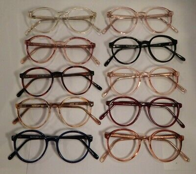 Vintage 10 Pc. Lot Elite New Yorker Assorted Colors 52/19 Eyeglass Frame NOS #S8