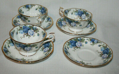 Royal Albert Moonlight Rose Tea Cups & Saucer Set Of 3 And 1 Saucer ( 7 ) Pieces