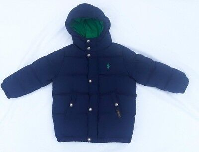 Toddler Boys Puffer Jacket by POLO Ralph Lauren/Hooded/Navy Blue/Size 3T