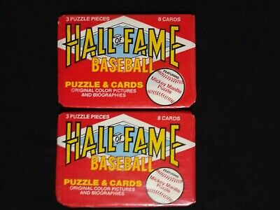 1983 Donruss Baseball Hall Of Fame Wax Pack 2 Pack Lot
