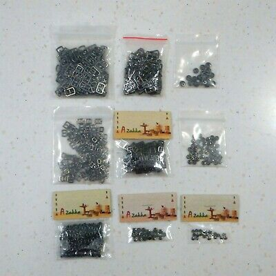 Doll Clothes Making Accessories (Buckles, Buttons, Rivets, etc) - Gunmetal