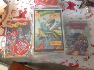 Grab Bag 90's Comic Lot, Marvel & Independents, All Bagged, Most With Boards Vf+