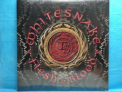 "WHITESNAKE ""Flesh & Blood"" SILVER COLORED Vinyl 2 LP BRAND NEW (Ltd. Ed. of 300)"