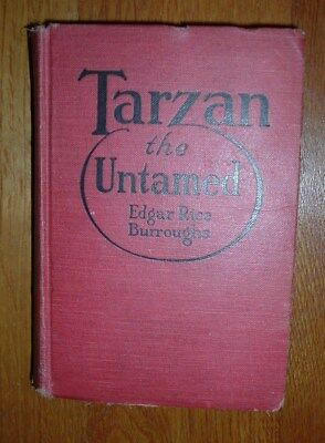Vintage book, Tarzan the Untamed by Burroughs,1920, Good Condition