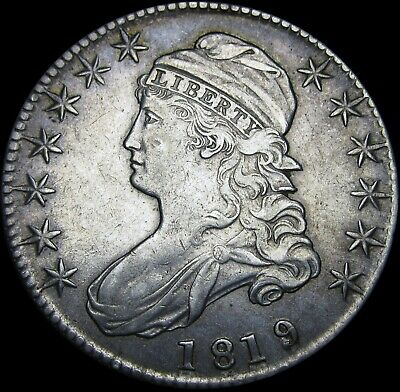 1819/8 Capped Bust Half Dollar  ----  STUNNING Type Coin  ---- #S176