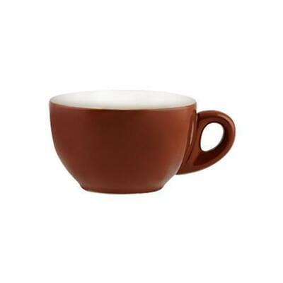 6x Large Cappuccino Cup Brown 330mL Rockingham Coffee / Cafe / Restaurant