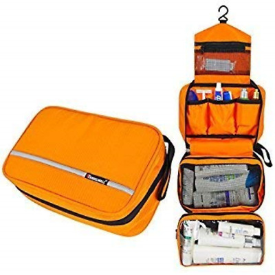 Dopp Kits For Men Hygiene Travel Bag Toiletries Shaving Case Orange Organizer...