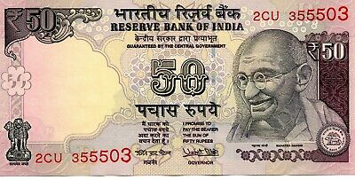 INDIA 50 Rupees 2017 P104 Letter R UNC Banknote
