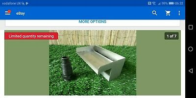 200mm Stainless Steel Waterfall WATER BLADE Cascade Koi Fish Pond  BOTTOM INLET