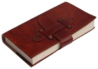 Hand Made Leather Bound Book/Journal Recycled Paper Slip Close blank design