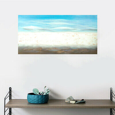 Blue Seascape Ocean Canvas Handmade Oil Painting Stretched Framed Ready To Hang
