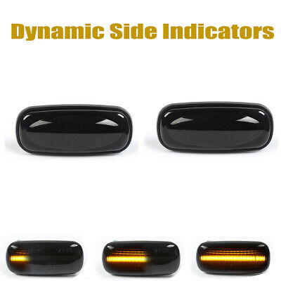 2PCS Dynamic LED Side Repeater Indicator Light For Land Rover Discovery Defender