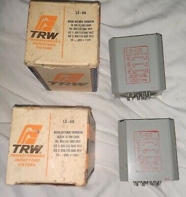 PAIR OF UTC LS-6L3 Push Pull Output Transformer or 845/211