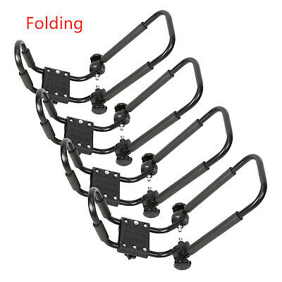 2 Pairs Folding Kayak Roof Rack J-Bar For Canoe SUV Top Mount Car Carrier